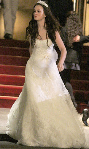 leighton meester in a wedding dress instylecouk
