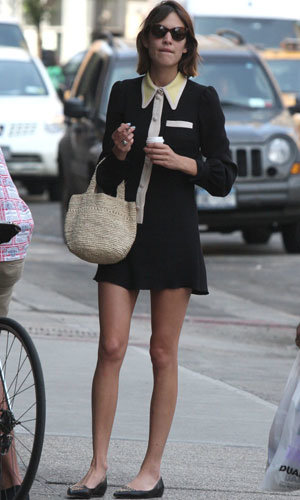 Alexa Chung looked super cute as she hit the shops in New York