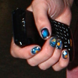 NAILS: Alexa Chung works the nail art trend