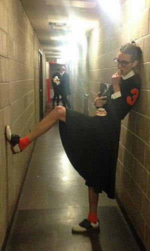 Alexa Chung gives preppy-chic a Halloween spin