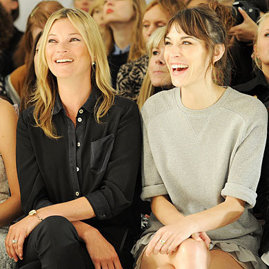 Alexa Chung and Jessica Ennis go FROW at Mulberry