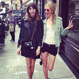 Alexa Chung on a girls' day out with Poppy Delevingne!