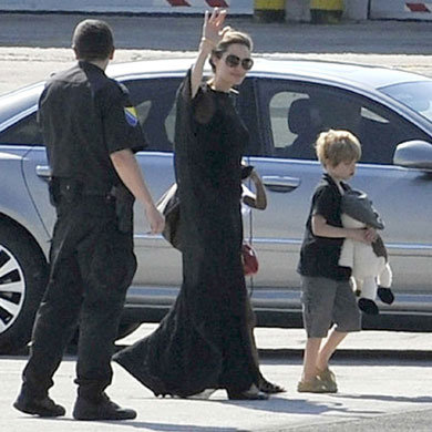 Angelina Jolie hits Sarajevo film festival with kids in tow!