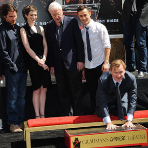 Anne Hathaway shows her support at Dark Knight Rises director Christopher Nolan's Hand and Footprint Ceremony