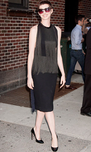 Anne Hathaway's new style staple – the LBD!
