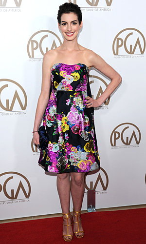 Anne Hathaway and Amanda Seyfried brighten up the Producers Guild Awards 2013