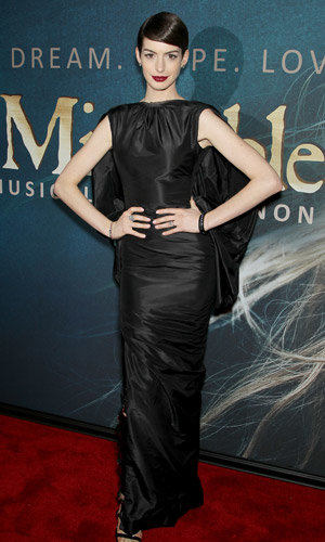 Anne Hathaway and Amanda Seyfried go for glam at the Les Miserables premiere