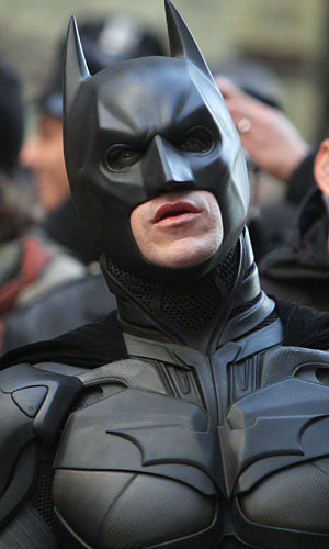Christian Bale's Batman suit arrives on the set of The Dark Knight Rises!