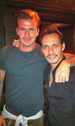 BROMANCE: David Beckham posts pic with his pal Marc Anthony