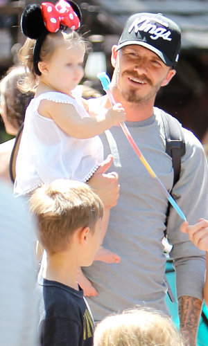 SEE PICS: Victoria and David Beckham take Harper and the boys to Disneyland!