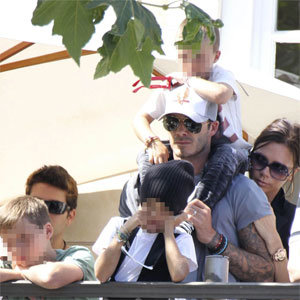 SEE PICS: The Beckhams enjoy a cute family day out