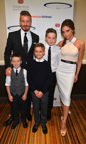 BECKHAM FAMILY OUTING! Team Beckham hit the red carpet at a sports event!