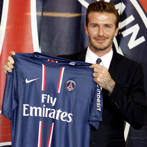 David Beckham joins Paris Saint-Germain football club