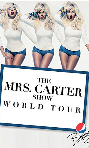 Beyonce shows off blonde locks in new Mrs Carter Show World Tour pics