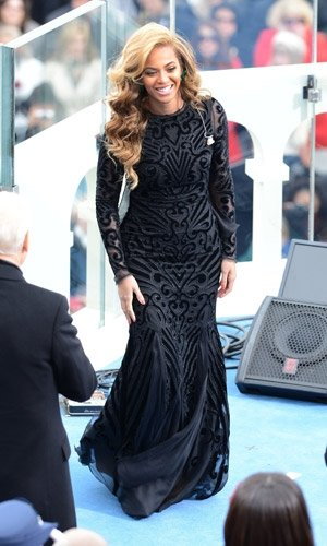 Beyonce wows in Emilio Pucci at President Obama's inauguration
