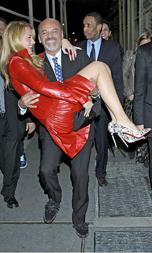 Christian Louboutin sweeps Blake Lively off her feet in NYC!