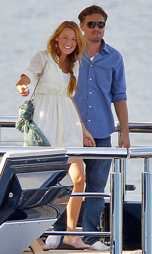 Blake Lively and Leonardo DiCaprio are all smiles on Steven Spielberg's yacht