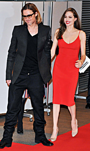 Angelina Jolie paints the town red!