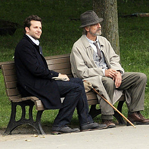 SEE PIC: Bradley Cooper on set of The Words with Jeremy Irons