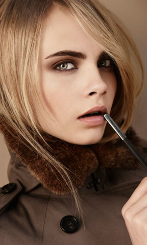 Cara Delevingne models Burberry Beauty Autumn Winter
