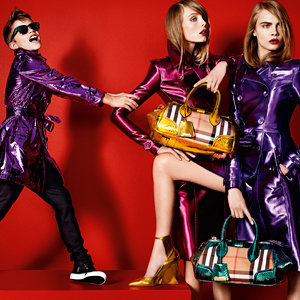 Romeo Beckham poses alongside Cara Delevingne in new Burberry ad