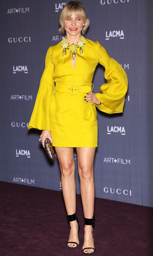 Colour craze: Amy Adams and Cameron Diaz work canary-yellow at LACMA Gala!