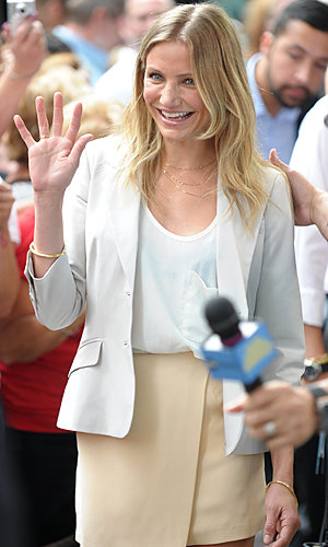 Cameron Diaz checks in at America's chat shows