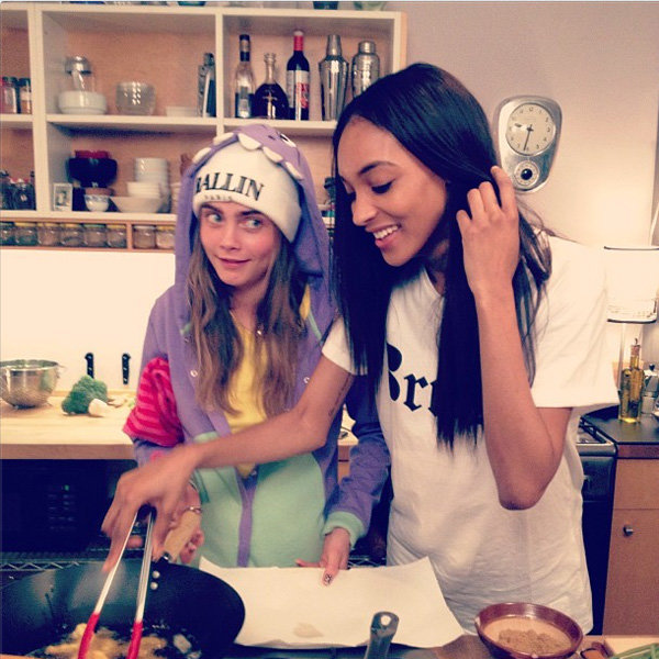Cara Delevingne and Jourdan Dunn cook up a model storm!