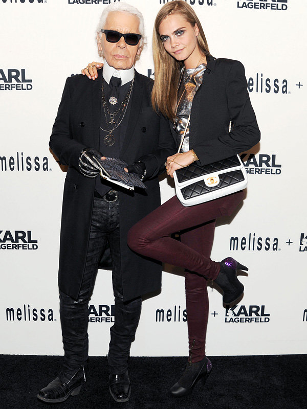 Cara Delevingne helps Karl Lagerfeld launch Melissa shoe collaboration