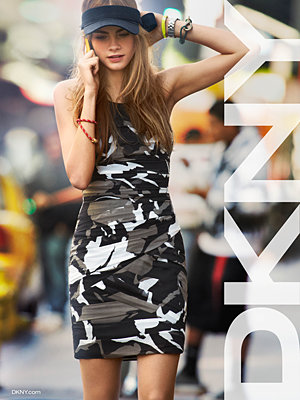 Pose-off: Karlie Kloss and Cara Delevingne front new Donna Karan and DKNY campaigns