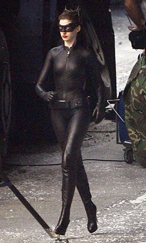 REVEALED: Anne Hathaway dons the Catwoman catsuit!