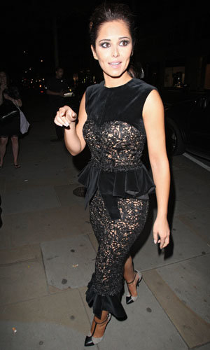 Cheryl Cole works a gothic lace look!