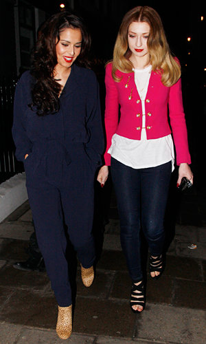 Cheryl Cole enjoys night out with Tre Holloway and Nicola Roberts
