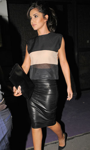 Cheryl Cole works a leather look!