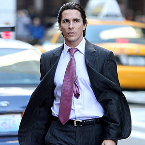BATMAN ON SET! Christian Bale gets into character for Dark Knight Rises