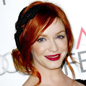 HAIR INSPIRATION: Christina Hendricks' demure updo