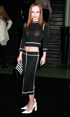 Celebrities work monochrome fashion trend front row at Marc Jacobs show