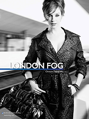 BEHIND THE SHOOT: Christina Hendricks in new London Fog campaign!