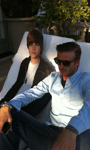 SEE PIC: David Beckham and Justin Bieber share a sunbed?