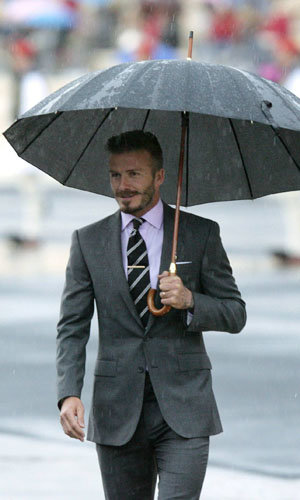 David Beckham attends Olympic flame handover in Athens!