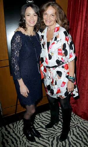 Diane von Furstenberg and Harvey Weinsten celebrate The Artist with exclusive lunch in New York