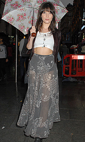 Daisy Lowe goes boho chic for London party!