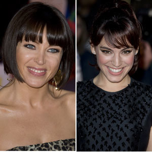 Kelly Brook and Dannii Minogue show off fringe benefits