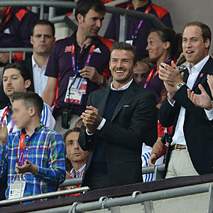 David Beckham and Prince William watch football together at the Olympics!