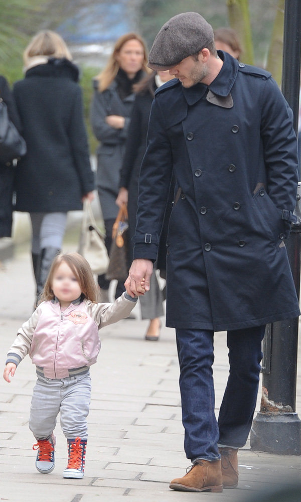 David Beckham and Harper enjoy a stylish day out in London