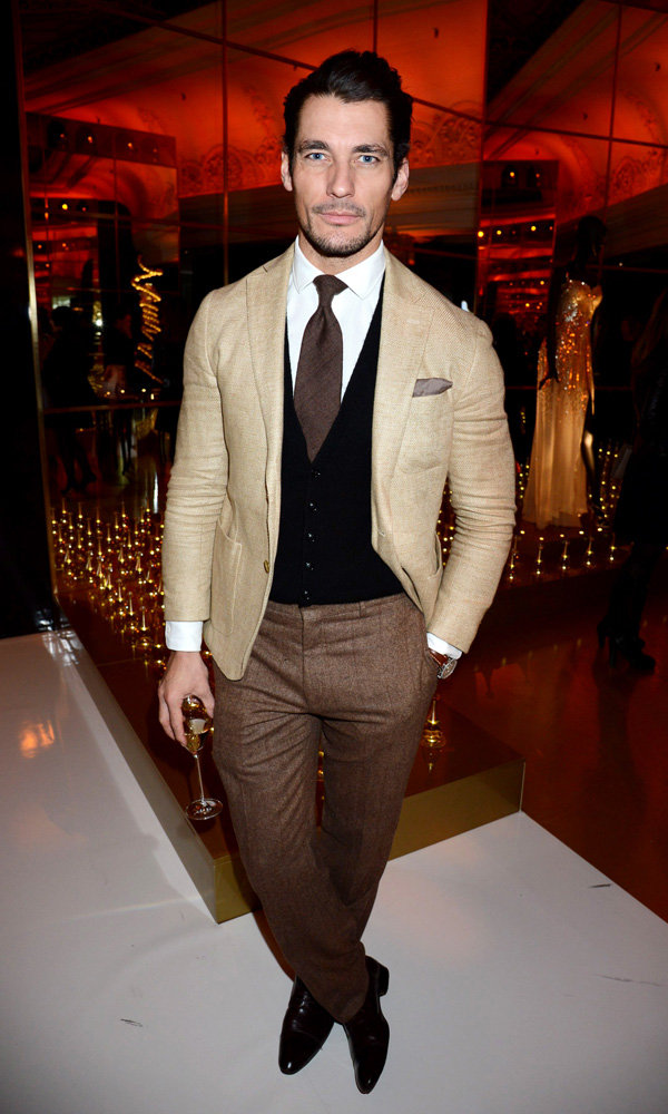 David Gandy joins fellow celebs to party with Dior at Harrods