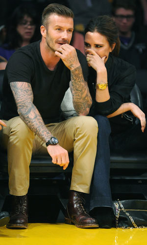SEE PICS: David and Victoria Beckham enjoy a date at the basketball!