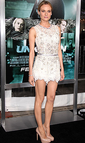 January Jones and Diane Kruger hit premiere of new thriller Unknown - plus WATCH clip!