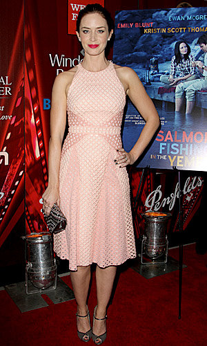 Think pink! Emily Blunt wows in Marios Schwab at her latest premiere