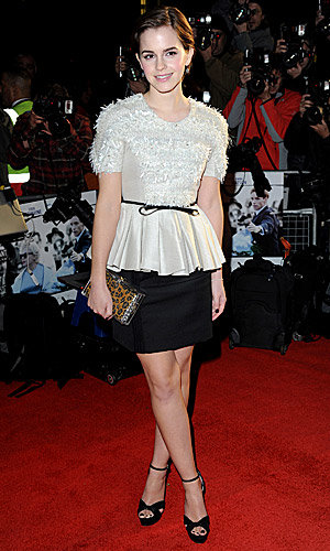 Cute! Emma Watson sparkles at the My Week With Marilyn premiere